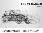 front loader from the particles.... | Shutterstock .eps vector #1084748624