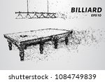 the billiard particle. billiard ... | Shutterstock .eps vector #1084749839