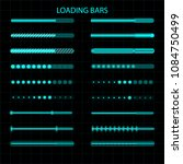 a loading bar. a set of led ... | Shutterstock . vector #1084750499