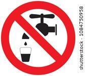 not drinkable water ...   Shutterstock .eps vector #1084750958