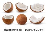 coconuts isolated on white... | Shutterstock . vector #1084752059