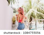 portrait from back of... | Shutterstock . vector #1084755056