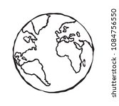 single black sketch of earth...   Shutterstock .eps vector #1084756550