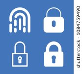 set of 4 secure filled icons... | Shutterstock .eps vector #1084759490