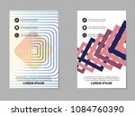 collection of business brochure ... | Shutterstock .eps vector #1084760390