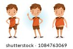 boy of full figured portraits.... | Shutterstock .eps vector #1084763069