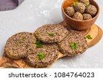 vegan beans burgers  cutlets ... | Shutterstock . vector #1084764023