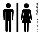 toilet sign. male and female...   Shutterstock .eps vector #1084764284