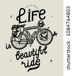 life is a beautiful ride travel ... | Shutterstock .eps vector #1084764803
