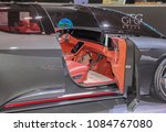 Small photo of Switzerland; Geneva; March 8, 2018; GFG Style Sibylla Concept interior; The 88th International Motor Show in Geneva from 8th to 18th of March, 2018.