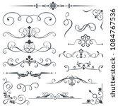 vintage calligraphic book...   Shutterstock .eps vector #1084767536