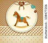 Stock vector baby shower invitation 108477206