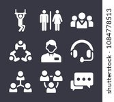 set of 9 people filled icons...   Shutterstock .eps vector #1084778513