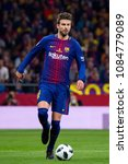 Small photo of MADRID - APR 21: Gerard Pique plays at the Copa del Rey final match between Sevilla FC and FC Barcelona at Wanda Metropolitano Stadium on April 21, 2018 in Madrid, Spain.