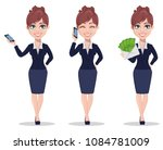 businesswoman cartoon character ... | Shutterstock .eps vector #1084781009