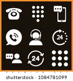 set of 9 telephone filled icons ... | Shutterstock .eps vector #1084781099