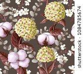 seamless pattern with hydrangea ... | Shutterstock .eps vector #1084785674