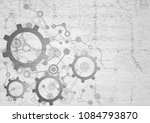 imaginative tech background | Shutterstock . vector #1084793870