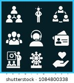 set of 9 business filled icons... | Shutterstock .eps vector #1084800338
