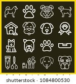 set of 16 dog outline icons... | Shutterstock .eps vector #1084800530