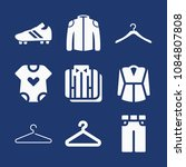 set of 9 clothes filled icons... | Shutterstock .eps vector #1084807808
