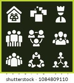 set of 9 group filled icons... | Shutterstock .eps vector #1084809110
