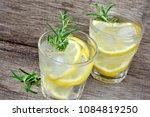 detox water flavored with... | Shutterstock . vector #1084819250
