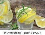close up of lemon detox water... | Shutterstock . vector #1084819274