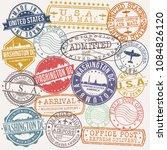 washington dc usa stamp vector... | Shutterstock .eps vector #1084826120