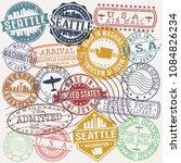 seattle washington stamp vector ...   Shutterstock .eps vector #1084826234