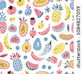 cartoon fruits and berries...   Shutterstock .eps vector #1084827059