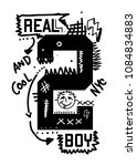 new york real and cool boy t... | Shutterstock .eps vector #1084834883