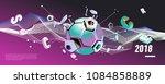 soccer and footbal digital web...   Shutterstock .eps vector #1084858889