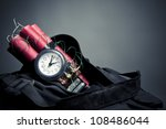 time bomb in a backpack... | Shutterstock . vector #108486044
