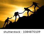 group of team people helping... | Shutterstock . vector #1084870109