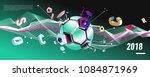 soccer and footbal digital web... | Shutterstock .eps vector #1084871969