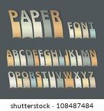 vintage paper font. vector... | Shutterstock .eps vector #108487484
