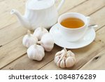 garlic tea with garlic | Shutterstock . vector #1084876289