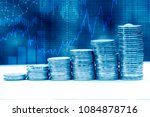 stack of coins in the stock... | Shutterstock . vector #1084878716