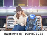 young asian woman is solo... | Shutterstock . vector #1084879268
