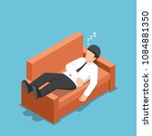 flat 3d isometric businessman... | Shutterstock .eps vector #1084881350