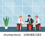 business people meeting and... | Shutterstock .eps vector #1084881383