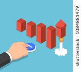 flat 3d isometric businessman... | Shutterstock .eps vector #1084881479