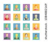 user avatar  people icons set
