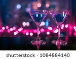 closeup of cocktail glasses on... | Shutterstock . vector #1084884140