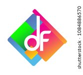 letter df logo with colorful...   Shutterstock .eps vector #1084886570