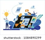 engaging content marketing.... | Shutterstock .eps vector #1084890299