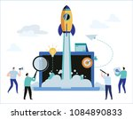 business project startup... | Shutterstock .eps vector #1084890833