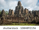 the scenery of bayon temple ...   Shutterstock . vector #1084892156