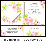 invitation with floral... | Shutterstock . vector #1084894673